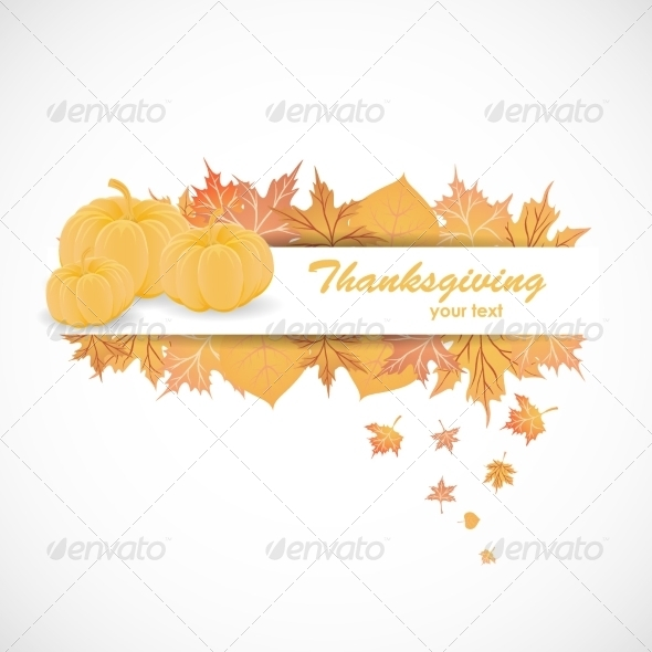 Banner for Thanksgiving Day