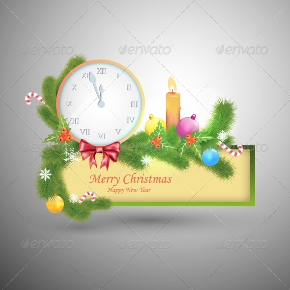 GraphicRiver Merry Christmas and Happy New Year Label 8154661