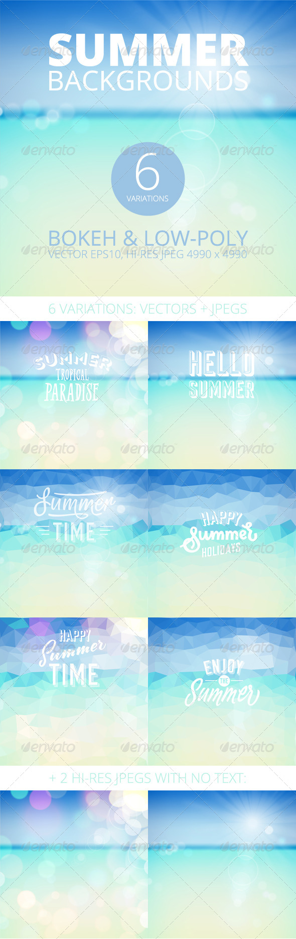 GraphicRiver Summer Holiday Tropical Beach Background 8154708