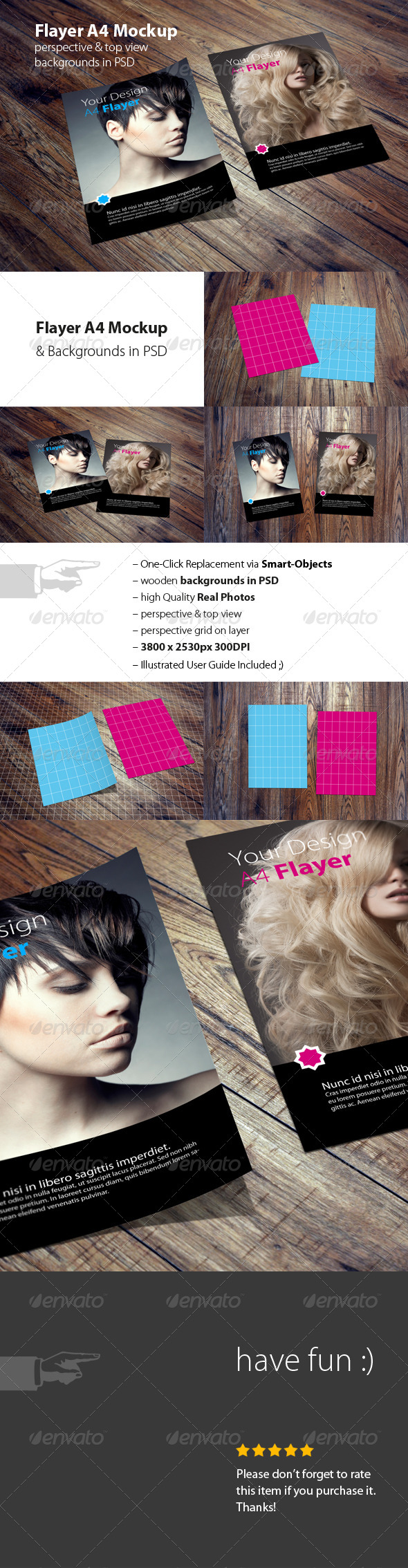 GraphicRiver Flayer Poster A4 Mockup in PSD 8154852