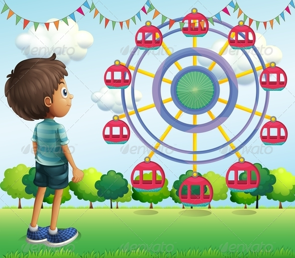GraphicRiver Boy Watches Ferris Wheel 8155115