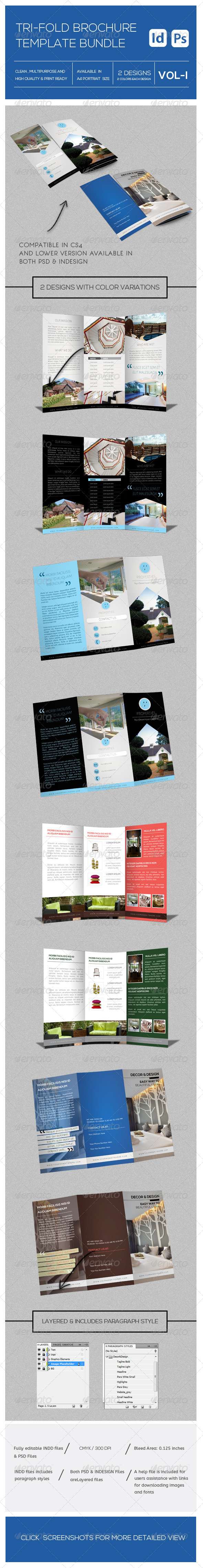 GraphicRiver Tri fold Brochure Bundle 8135342