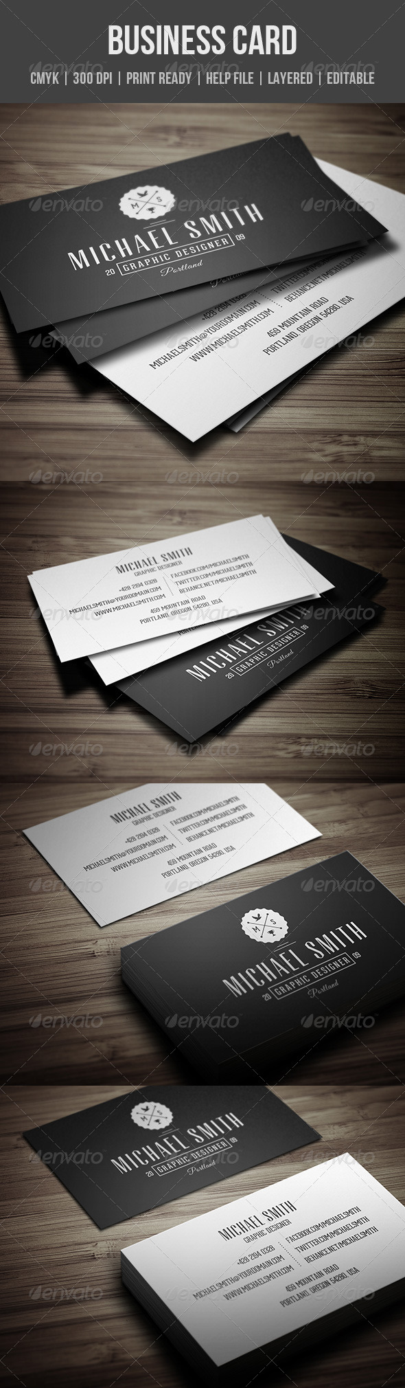 GraphicRiver Vintage Personal Business Card 8154093