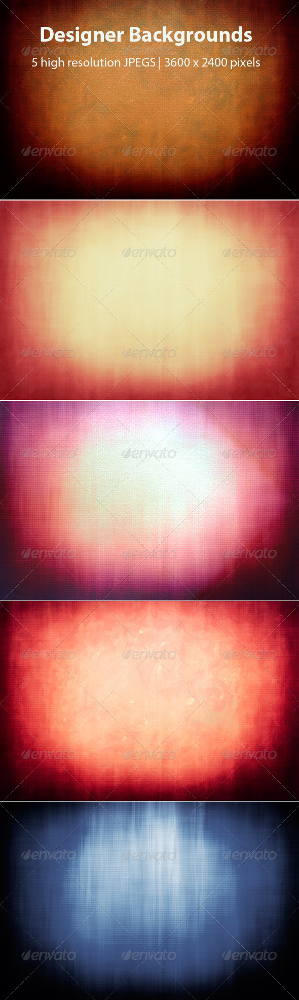 GraphicRiver Grunge Abstract Gradient Backgrounds 8155222