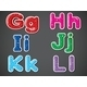 Six Letters in Alphabetical Orders - GraphicRiver Item for Sale
