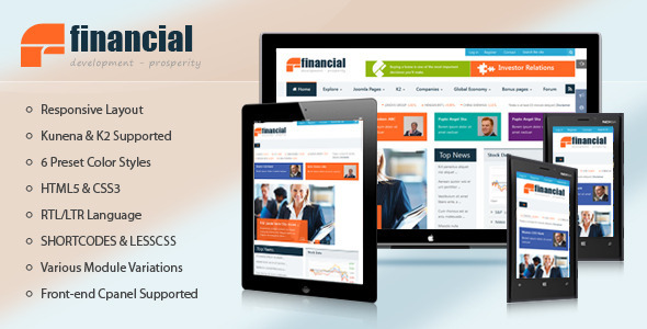 ThemeForest Financial Responsive Joomla News Template 8155299