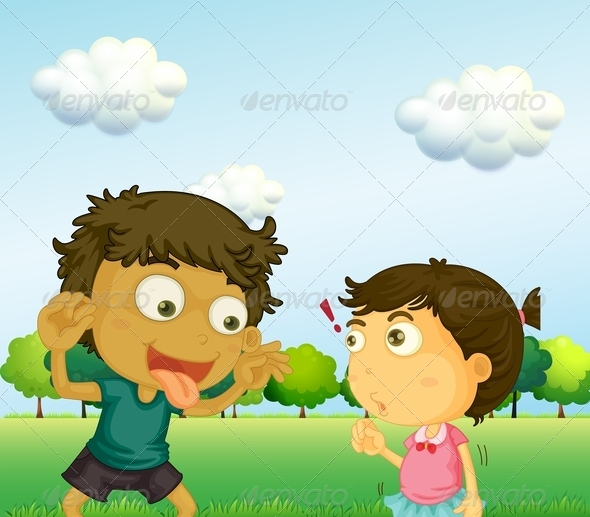 GraphicRiver Boy annoying Girl 8155317