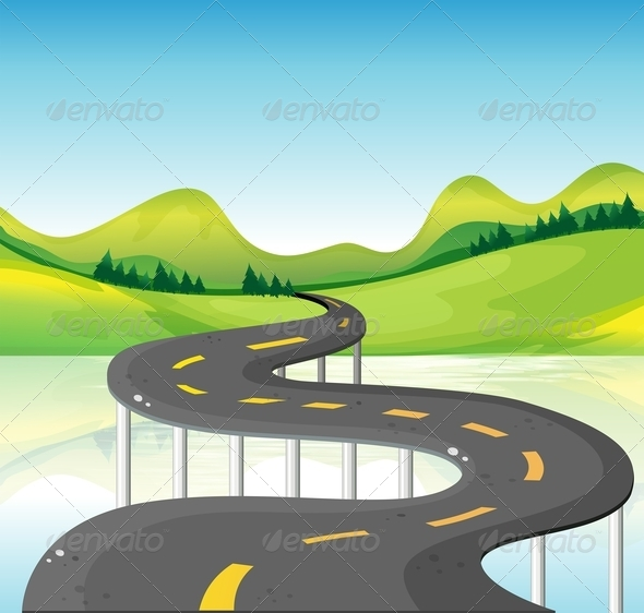 GraphicRiver Narrow Curve Road 8155370