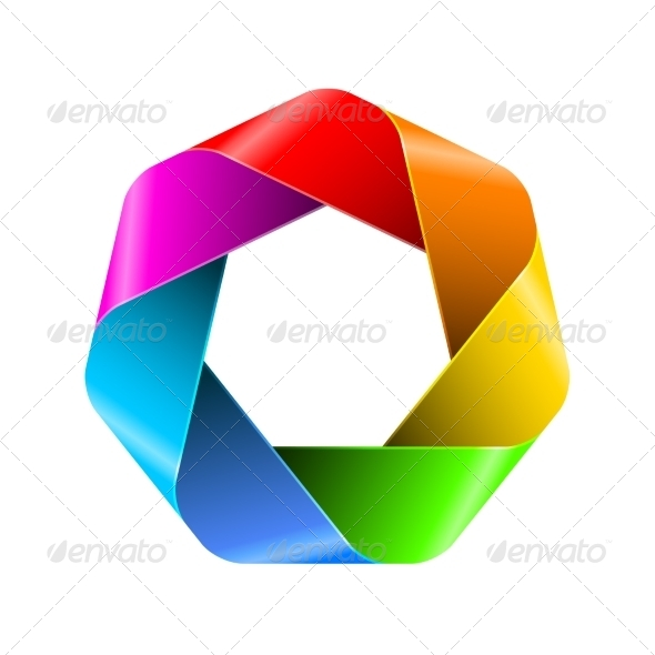 GraphicRiver Abstract Rainbow Polygon Icon 8155438