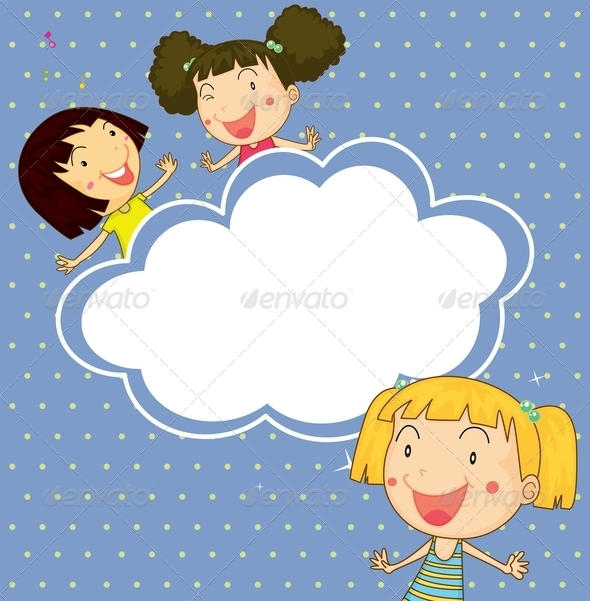 GraphicRiver A Stationery with Three Girls 8155665