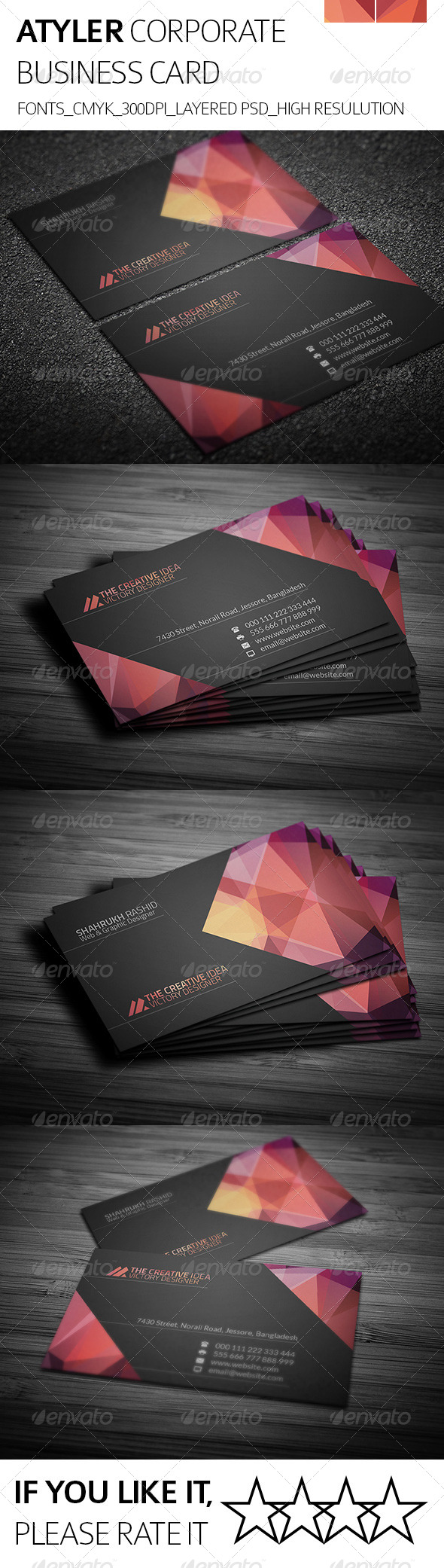GraphicRiver Atyler & Corporate Business Card 8155700