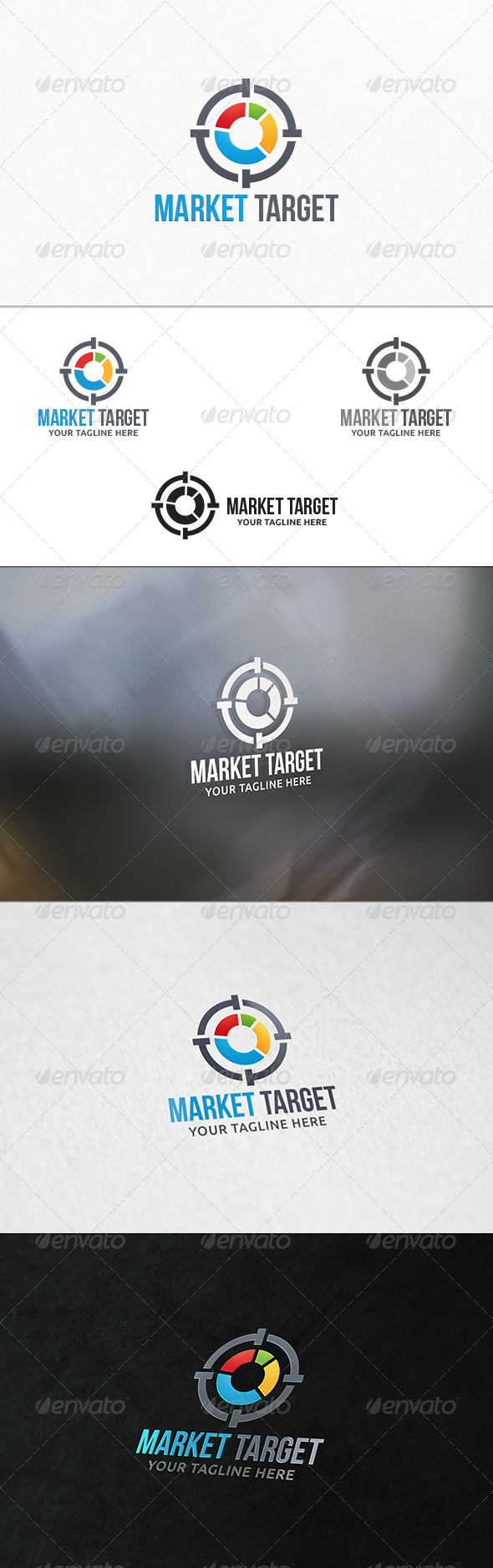 GraphicRiver Market Target Logo Template 8155727