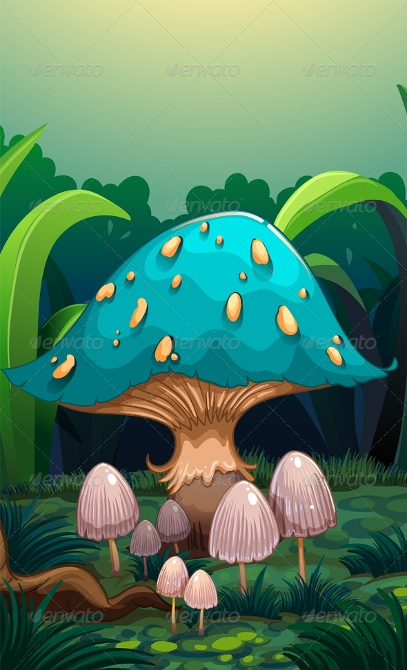 GraphicRiver Mushroom Background 8155792
