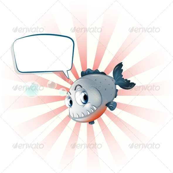 GraphicRiver A Piranha with an Empty Callout 8155804