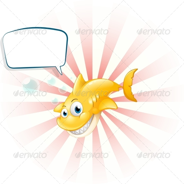 GraphicRiver A Yellow Shark with an Empty Callout 8155806