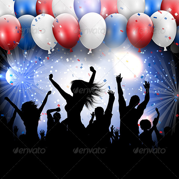 GraphicRiver Independence Day Party Background 8155870