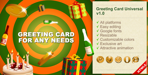CodeCanyon HTML5 Greeting Card Universal 8155883