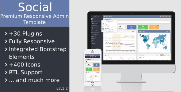 Social - Premium Responsive Admin Template - Admin Templates Site Templates