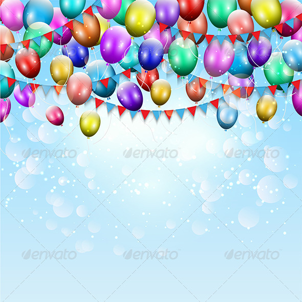 GraphicRiver Balloons and Pennant Background 8155962