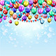 Balloons and Pennant Background - GraphicRiver Item for Sale