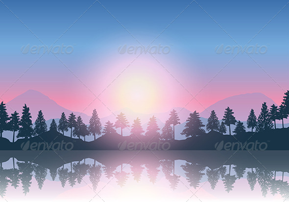 GraphicRiver Mountain Landscape 8156081