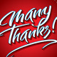 Many Thanks Hand Lettering - GraphicRiver Item for Sale