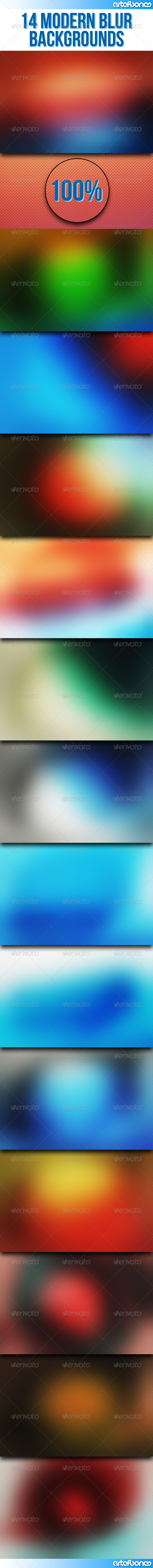 GraphicRiver 14 Modern Blur Backgrounds 8142651