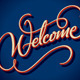 Welcome Hand Lettering  - GraphicRiver Item for Sale