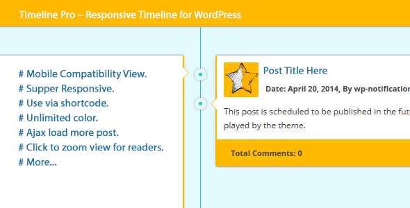 CodeCanyon Timeline Pro Responsive Timeline for WordPress 8143205