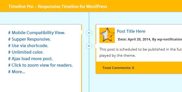 CodeCanyon Timeline Pro Responsive Timeline for WordPress 8143205
