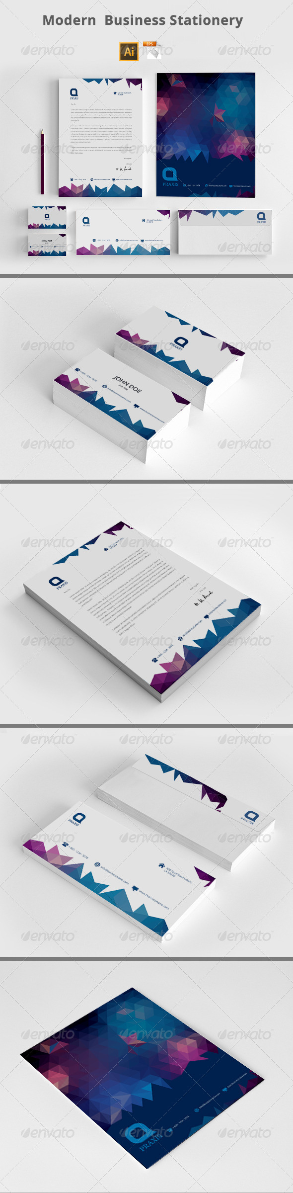 GraphicRiver Modern Business Stationery 8156306