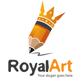 Royal Pencil Logo - GraphicRiver Item for Sale