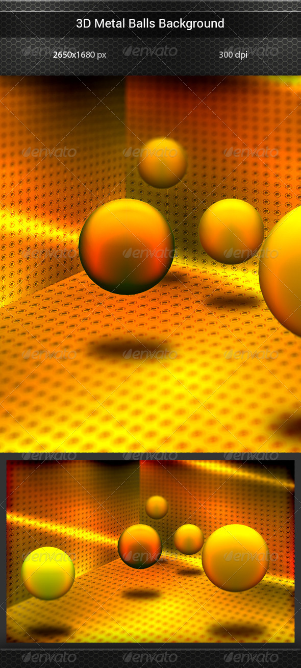 GraphicRiver 3D Metal Balls Background 8156418