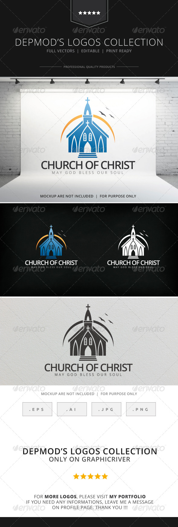 GraphicRiver Church Of Christ Logo 8156428