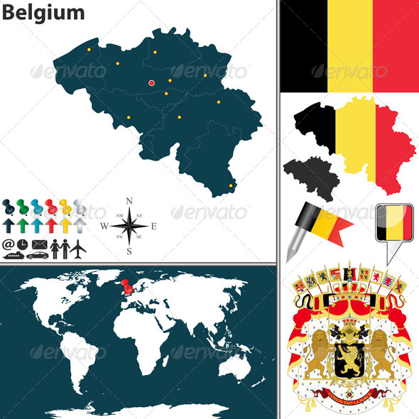 GraphicRiver Map of Belgium 8156443