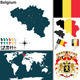 Map of Belgium - GraphicRiver Item for Sale