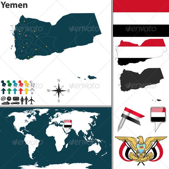 GraphicRiver Map of Yemen 8156445