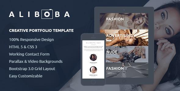 Aliboba One Page Creative Portfolio Template