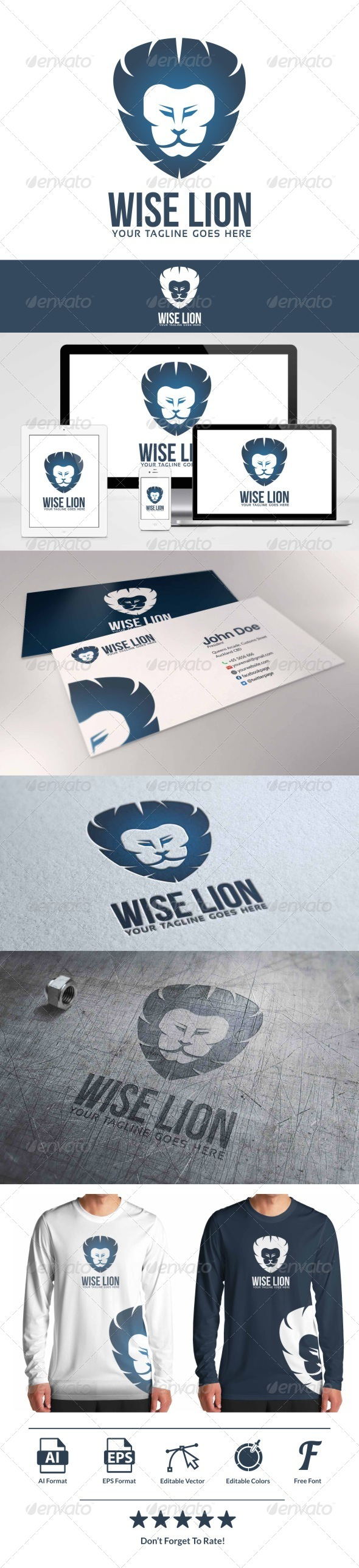GraphicRiver Wise Lion Logo 8156496