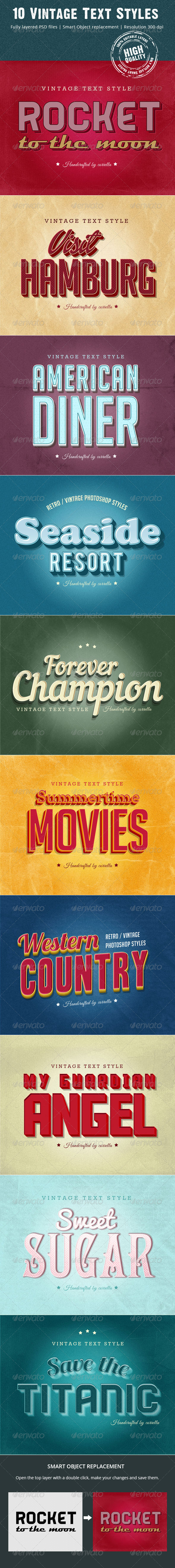 GraphicRiver 10 Vintage Text Styles 8156623
