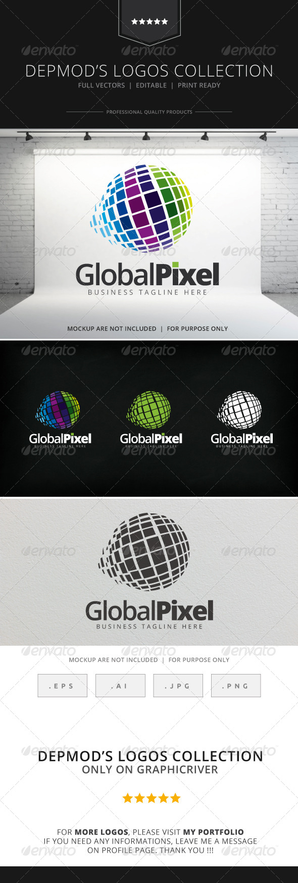 GraphicRiver Global Pixel Logo 8156777