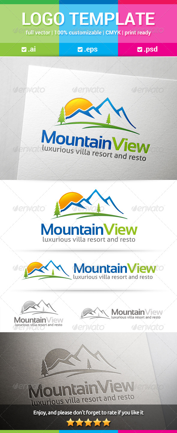 GraphicRiver Mountain View Logo 8156781