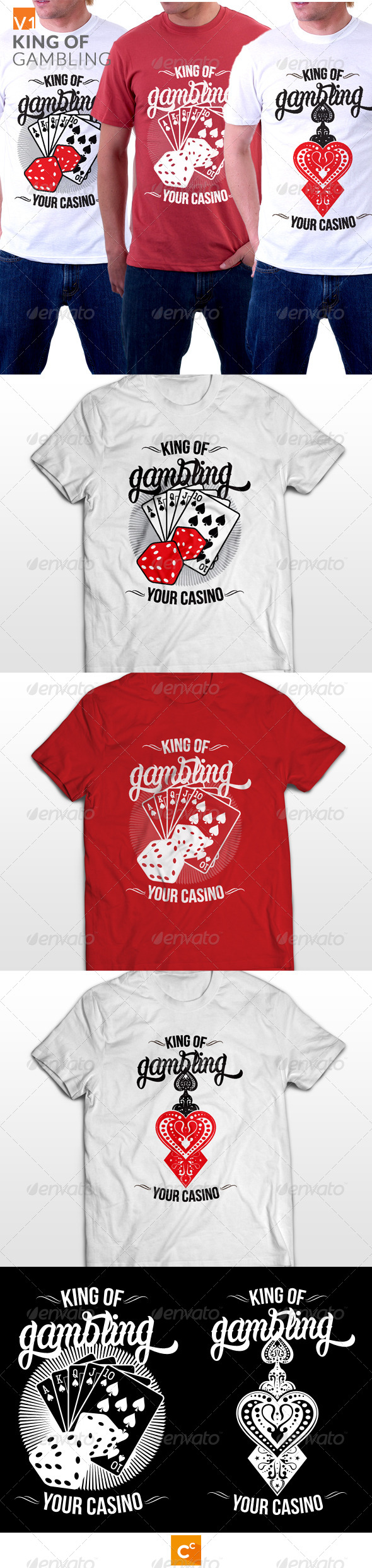 GraphicRiver King of Gambling T-shirt 8156837
