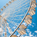Ferris wheel of fair and amusement park