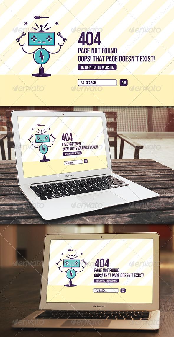 Robot 404 Error Page