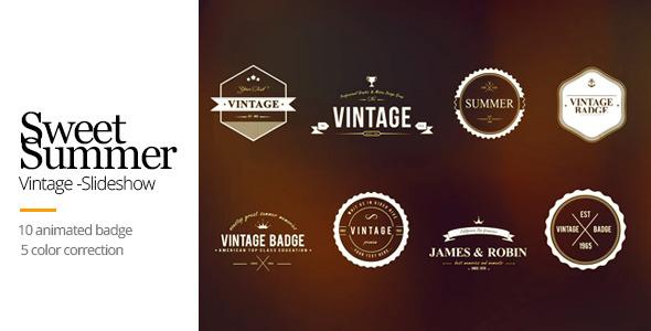 Vintage Animated Titles & Badges