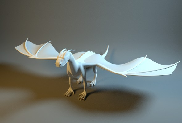 3DOcean dragon base mesh 8157168