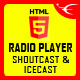 Radio Player With Playlist - Shoutcast and Icecast