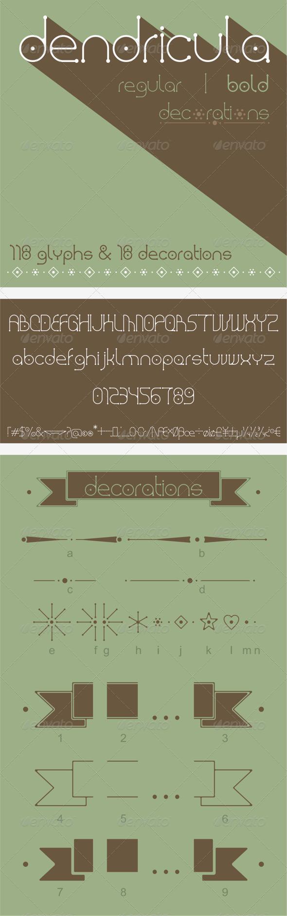 GraphicRiver Dendricula Typeface 8157205