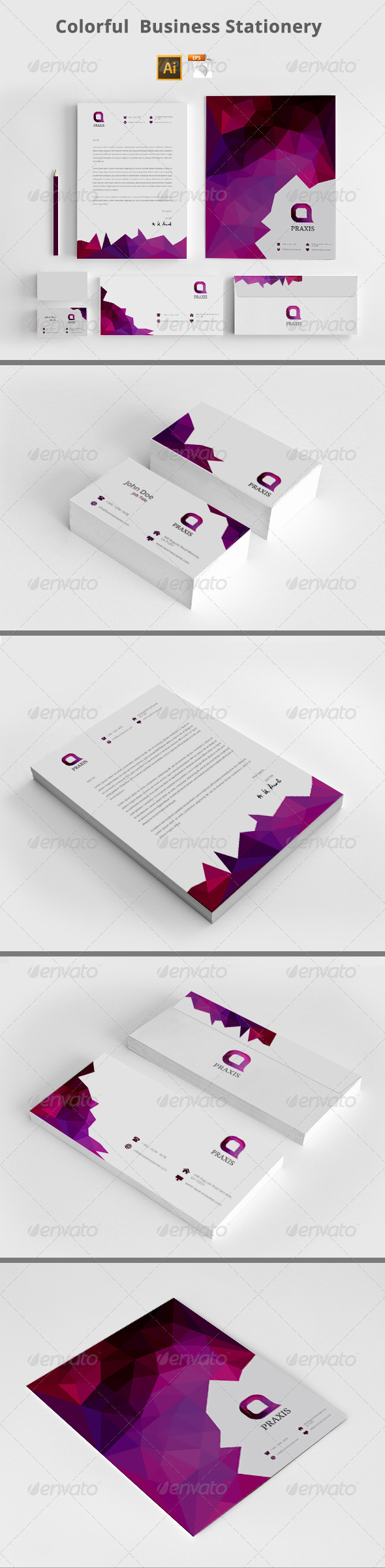 GraphicRiver Colorful Business Stationery 8157216